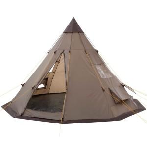 Tipi Zelt kaufen - Modell: CampFeuer-Tipi Zelt >Teepee<(Indianerzelt, Braun/Hell-Braun)
