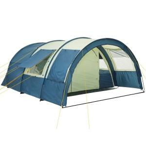 Zelte kaufen - CampFeuer® - Tunnelzelt mit 5000 mm Wassersäule, Bodenplane und versetz barer Wand