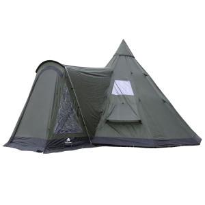 Tipi Zelt kaufen - Modell: CampFeuer® Tipi Zelt Teepee Indianerzelt-Rundzelt mit Vorbau